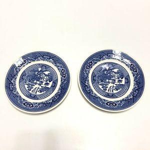 """Willow Ware Lot 2 Plates Churchill Royal China 6"""""""